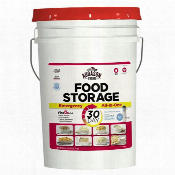 Augason Farms 1 All-in-one Emergency Food Supply, 36 Pails (1 Year, 4-person), 11,052 Servings