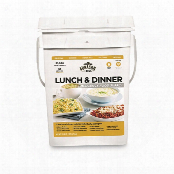 Augason Farms Emergency Food Supply Lunch & Dinner Variety Pail, 92 Servings