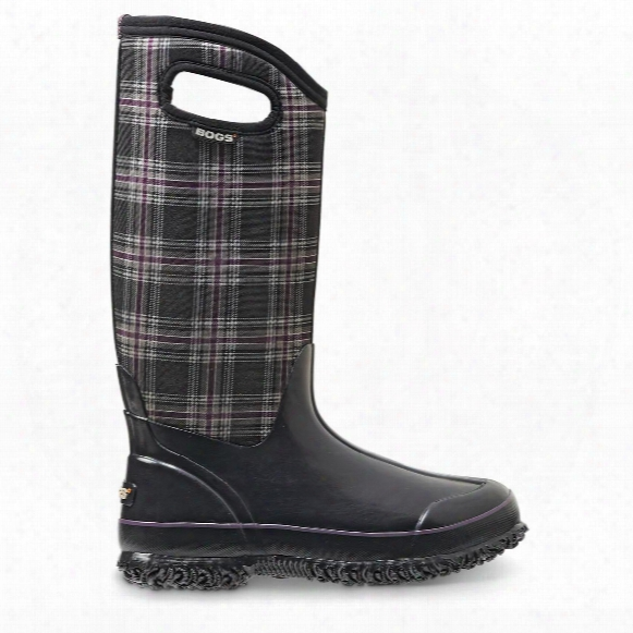 Bogs Women's Classic Winter Plaid High Insulated Rubber Boots