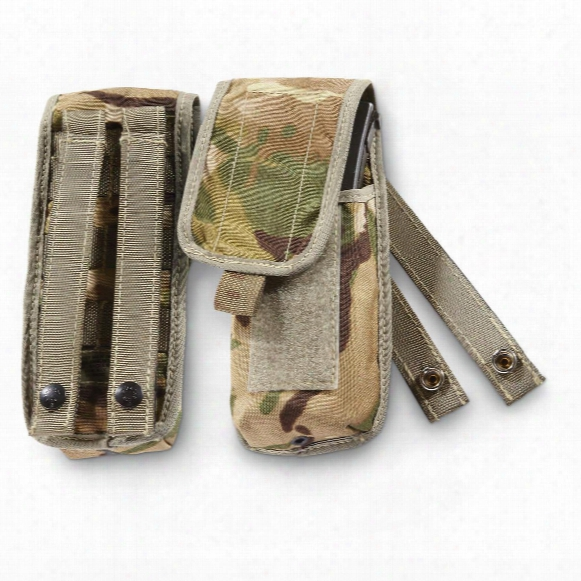 British Military Surplus Mtp Single Magazine Pouch, 2 Pack, Used