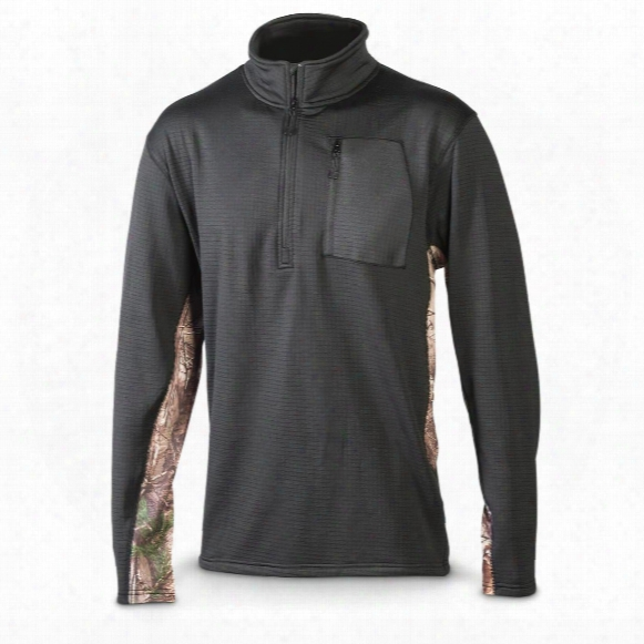 Browning Men's Belton Grid Fleece Quarter Zip Shirt