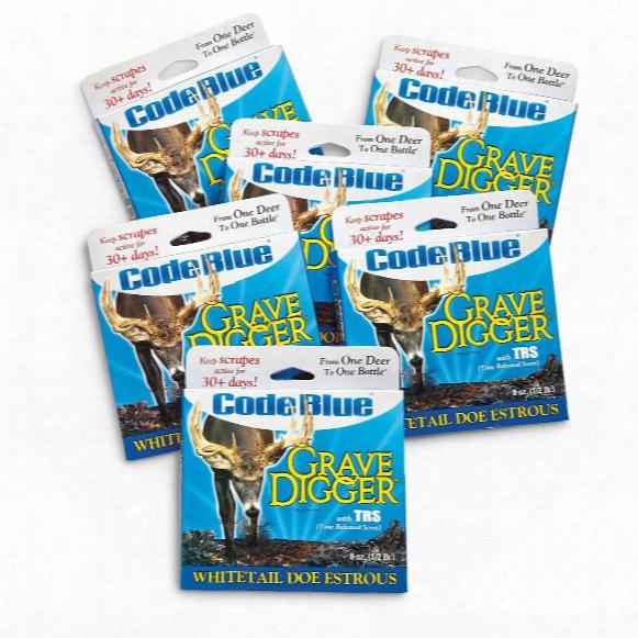 Code Blue Grave Digger Whitetail Doe Estrous Soil, 6 Pack