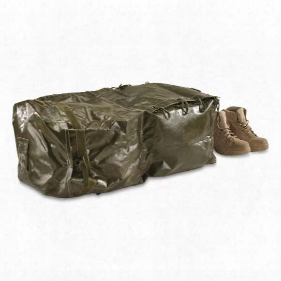 Czech Military Surplus Rubberized Duffel Bag, Like New