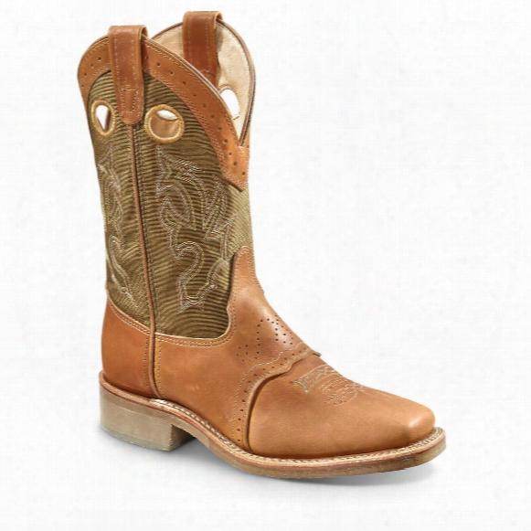"""Double-h Men's 13"""" Square Toe Roper Cowboy Boots"""