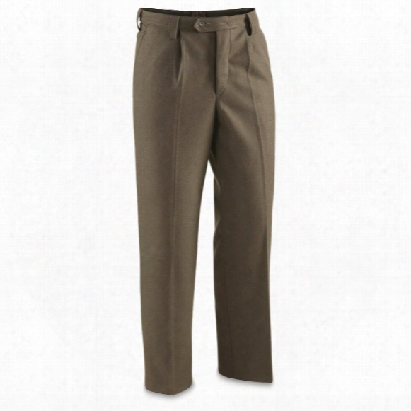 East German Military Surplus Wool Dress Pants, 3 Pack, Like New
