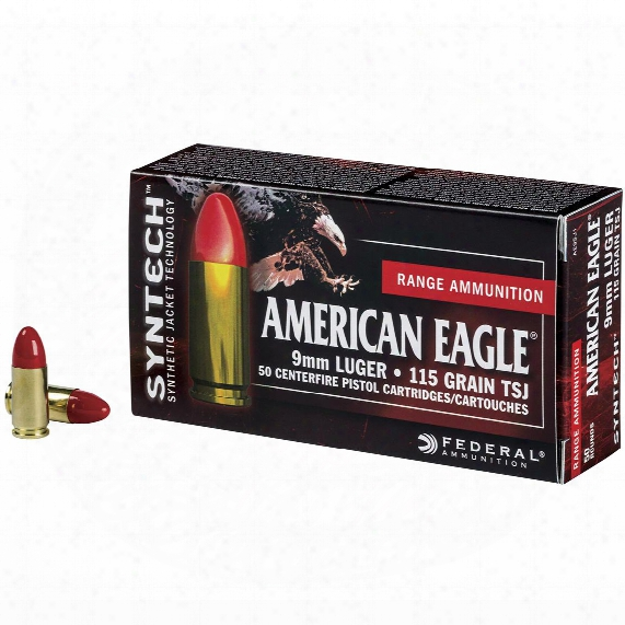 Federal American Eagle Syntech, 9mm Luger, Tsj, 115 Grain, 50 Rounds