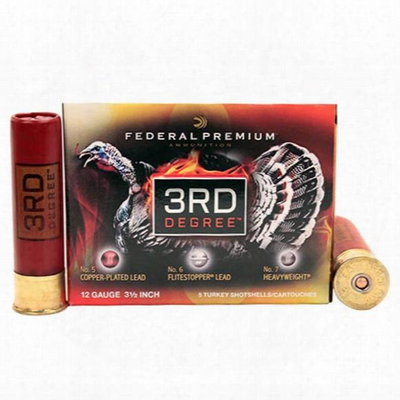 "Federal Cartridge, 12 Gauge, 3 1/2"" Shells, 2 Oz., 5 Rounds"