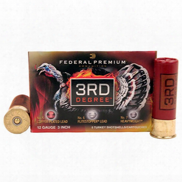 "Federal Cartridge, 12 Gauge, 3"" Shells, 1 3/4 Oz., 5/6/7 Shot, 5 Rounds"
