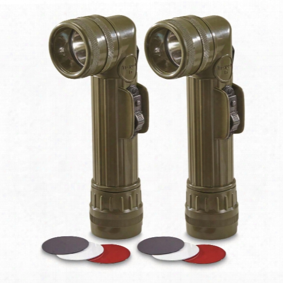 French Military Surplus Anglehead Flashlight, 2 Pack, New
