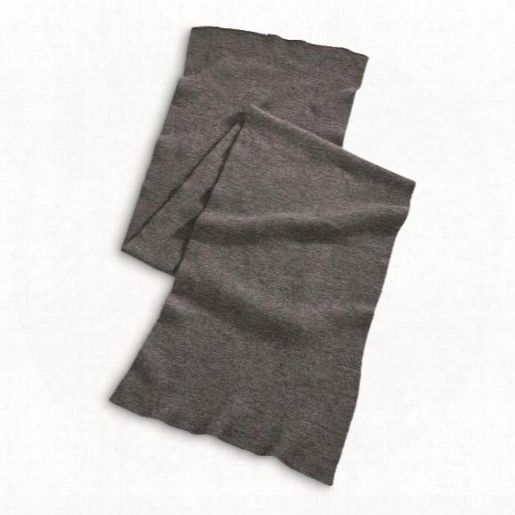 German Military Surplus Wool Blend Scarves, 4 Pack, New
