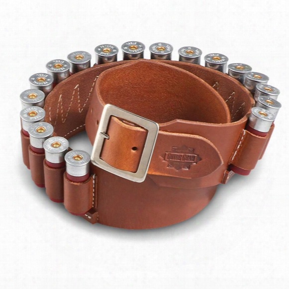 Guide Gear Leather Cartridge Belt, 12 Gauge Shotgun