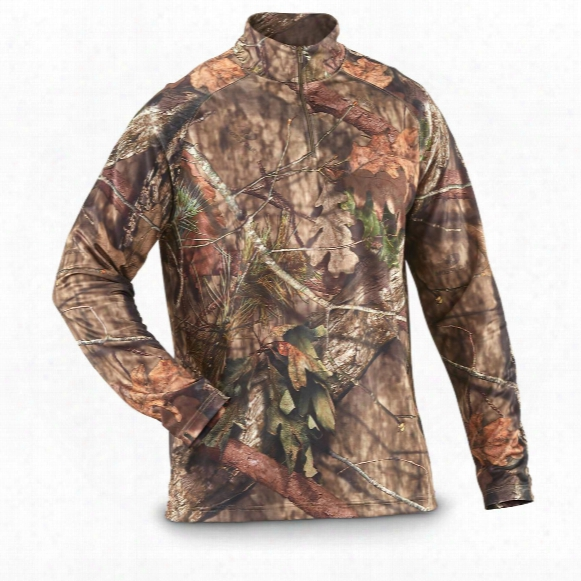 Guide Gear Men's Performance Hunting Camo 1/4 Zip Shirt