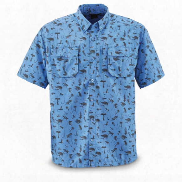 Guide Gear Men's Short Sleeve Fishing Shirt, Upf 50, Mosquito Repellent