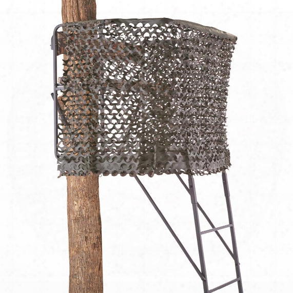 """Guide Gear Tree Stand Camo Netting System, 8' X 4'9""""h"""