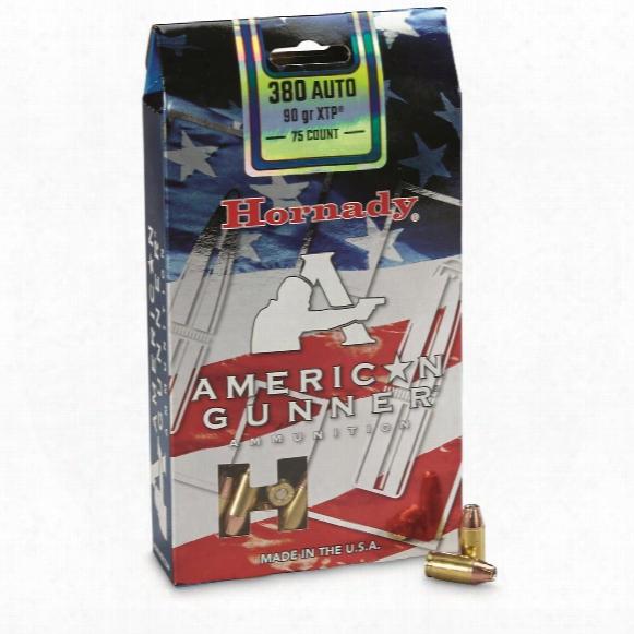 Hornady American Gunner, .380 Acp, Xtp, 90 Grain, 75 Rounds