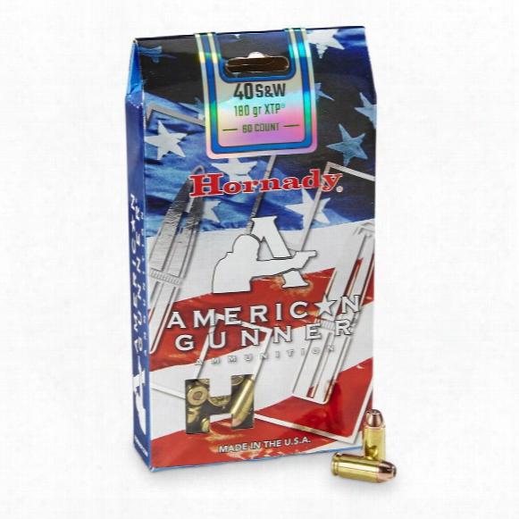 Hornady American Gunner, .40 S&w, Xtp, 180 Grain, 60 Rounds