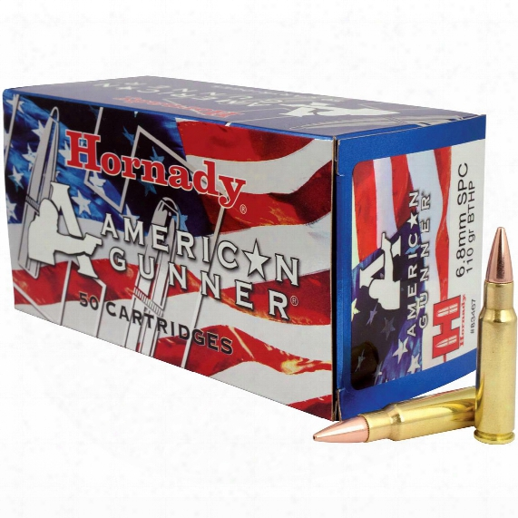 Hornady American Gunner, 6.8mm Special, Bthp, 110 Grain, 50 Rounds