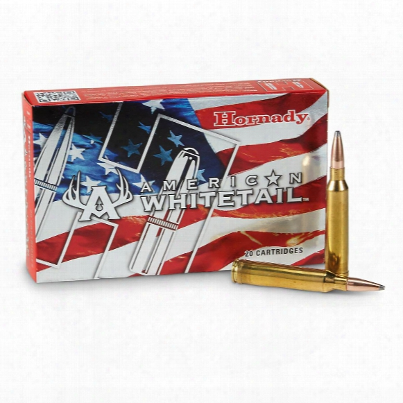 Hornady American Whitetail, 7mm Remington Magnum, Interlock Sp, 154 Grain, 20 Rounds