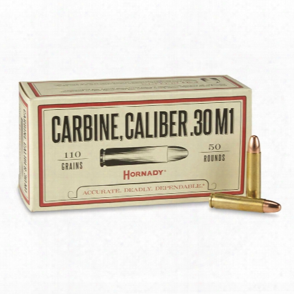 Hornady Custom, .30 Carbine, Fmj, 110 Grain, 50 Rounds