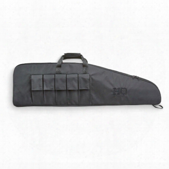 "Hq Issue 39"" Tactical Gun Case With 5 Magazine Pockets"