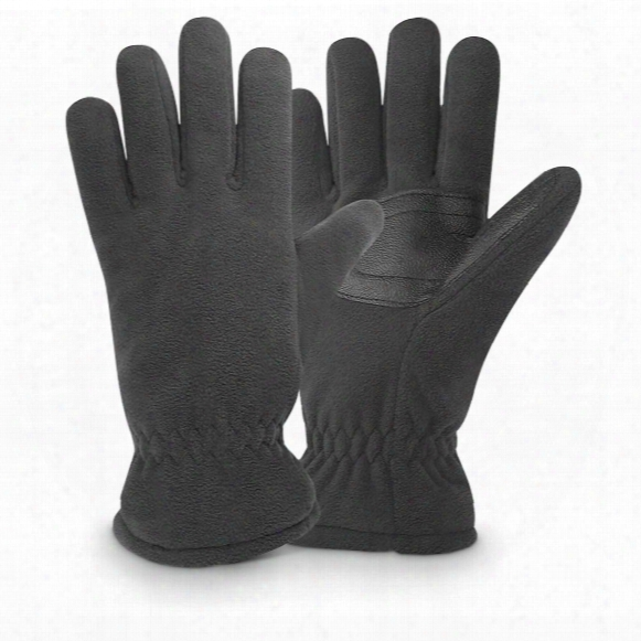 Igloos Men's Waterproof Insulated Fleece Gloves, 2 Pairs