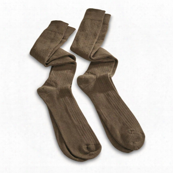 Italian Military Surplus Heavyweight Boot Socks, 2 Pack, New