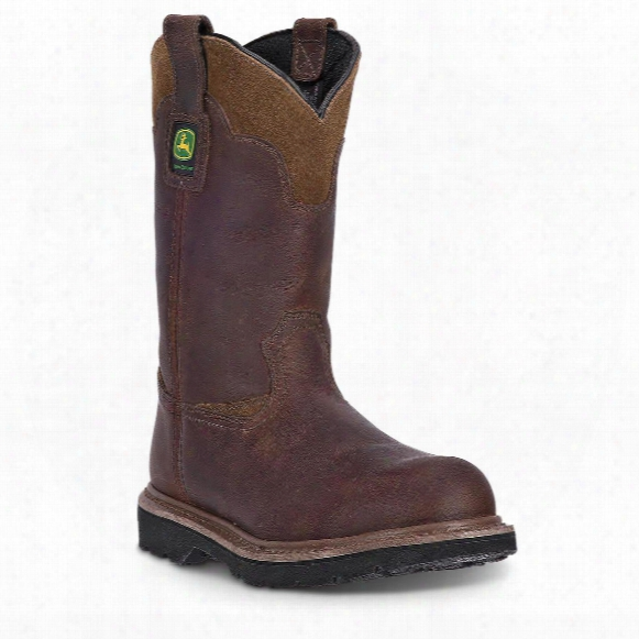 "John Deere Men's 11"" Wellington Pull-on Work Boots"