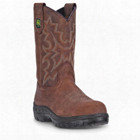 "John Deere Men's Wct Waterproof 11"" Pull-on Work Boots"