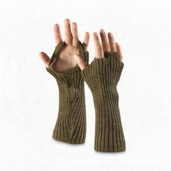 Norwegian Military Surplus Wool Wrist Warmers, 3 Pair, New