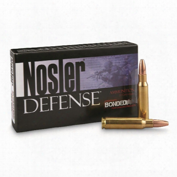 Nosler Defense Rifle, .308 Winchester, Bonded Solid Basis, 168 Grain, 20 Rounds