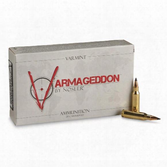 Nosler Varmageddon, .221 Remington Fireball, Fb Polymer Tipped, 40 Grain, 20 Rounds