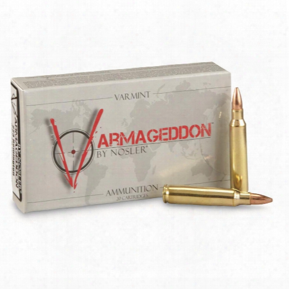 Nosler Varmageddon, .223 Remington, 62 Grain, Fbhp, 20 Rounds
