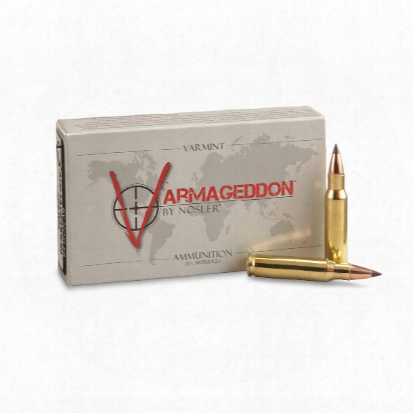 Nosler Varmageddon, .08 Winchester, Fb Polymer Tipped, 110 Grain, 20 Rounds