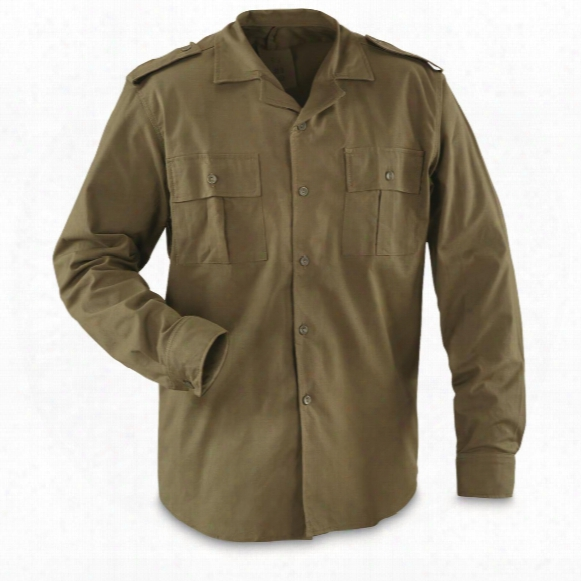 Romanian Military Surplus Field Shirt, 4 Pack, New