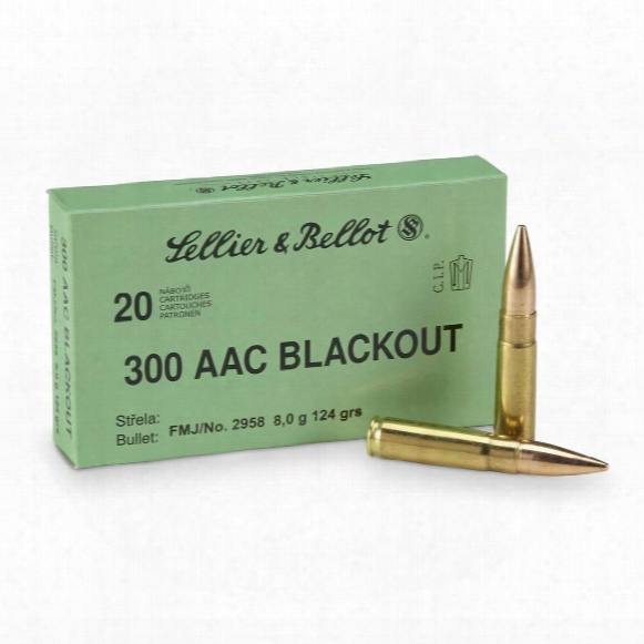 Sellier & Bellot, .300 Aac Blackout, Fmj, 124 Grain, 20 Rounds