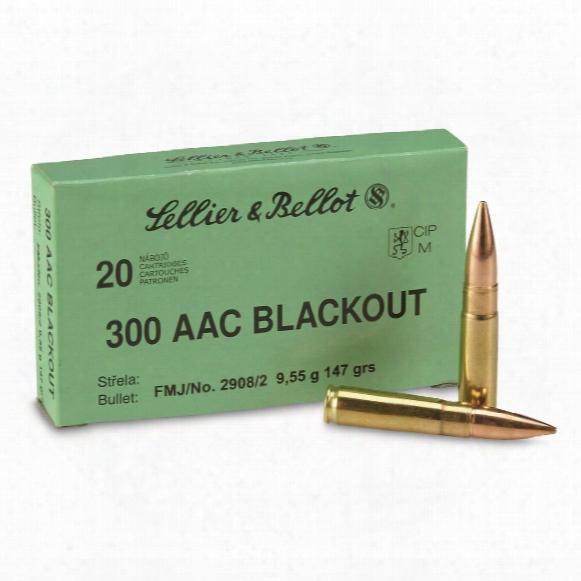 Sellier & Bellot, .300 Aac Blackout, Fmj, 147 Grain, 20 Rounds