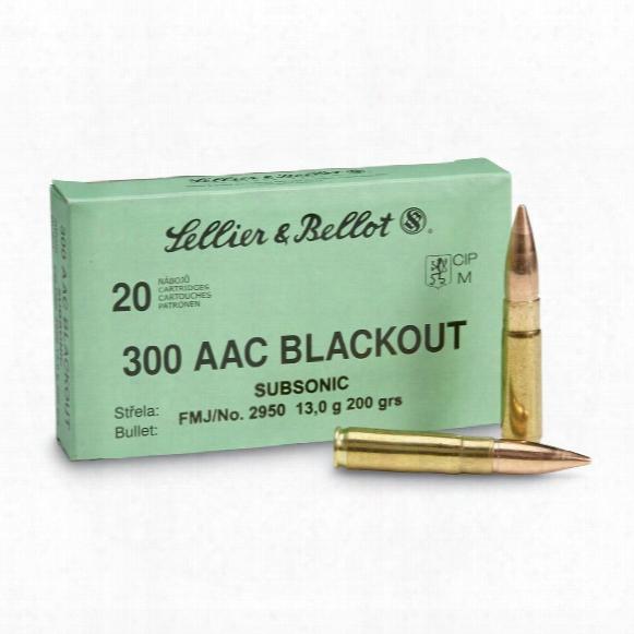 Sellier & Bellot, .300 Blackout, Fmj, 200 Grain, 20 Rounds