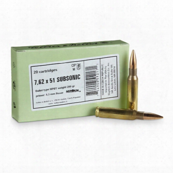 Sellier & Bellot, .308 Winchester, Match Bthp, 200 Grain, 20 Rounds
