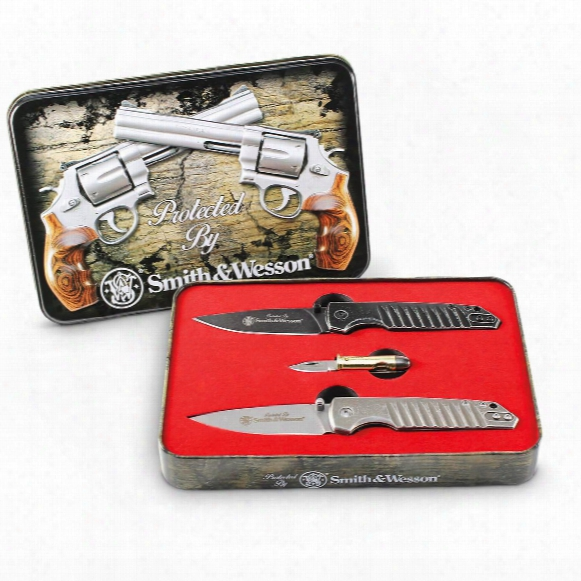 Smith & Wesson Limited Edition Knife Set, 3 Pieces