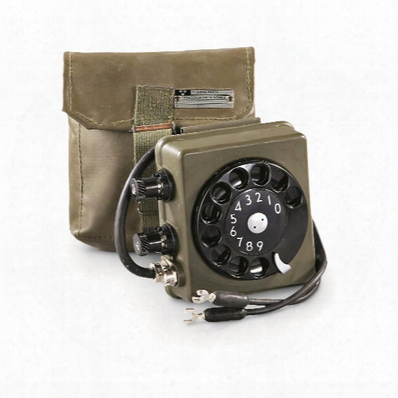 Swedish Military Surllus Rotary Phone Dialer, With Case, Used