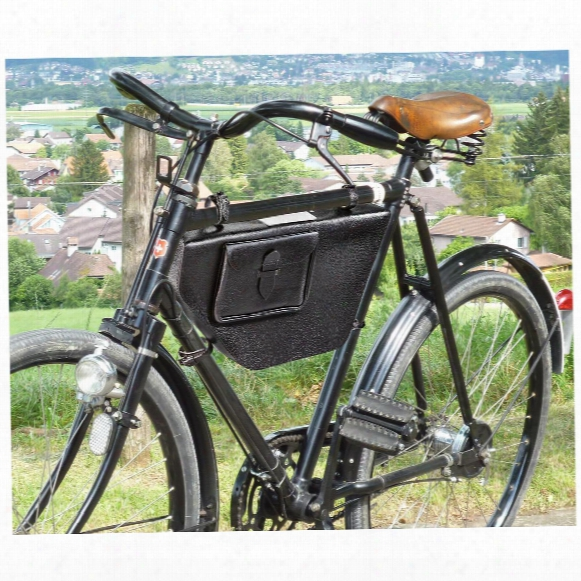 Swiss Military Surplus Bicycle Leather Frame Bag, New