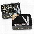 "Schrade Imperial 2-Blade 100th Anniversary Trapping Knife with Gift Tin, 3"" Blade"