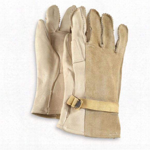 U.s. Military Surplus D3 Suede Leather Gloves, New