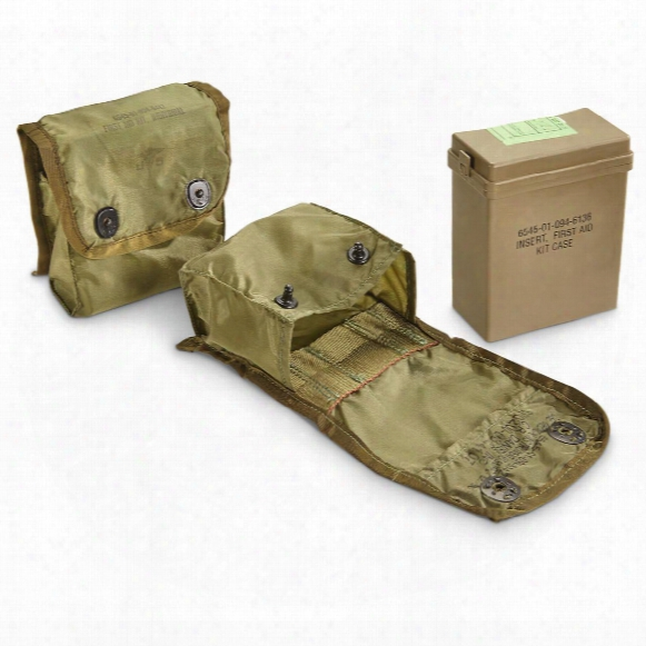 U.s. Military Surplus Fak Pouches With Inner Boxes, 2 Pack, Used