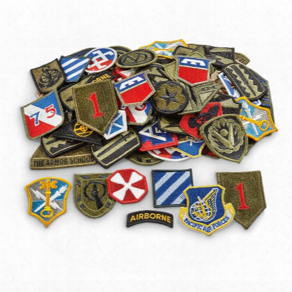 U.s. Military Surplus Patches Grab Bag, 100 Pack, New