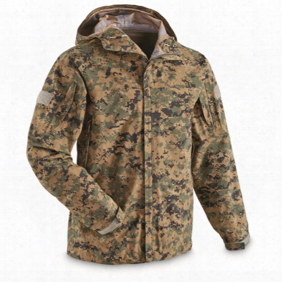 U.s. Military Surplus Usmc Marpat Ecw Hooded Jacket, New