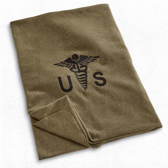 U.s. Military Surplus Wool Officer's Medical Blanket, New