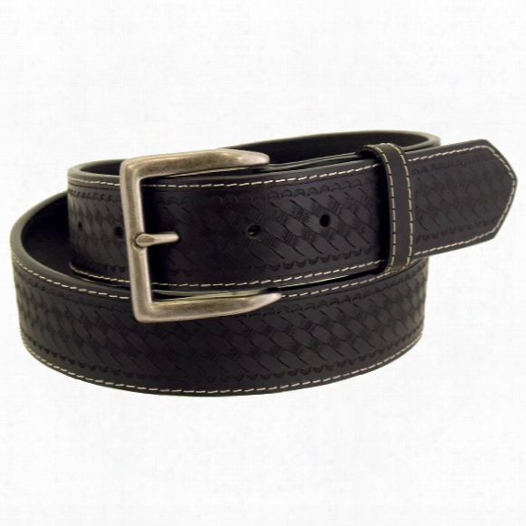 Wrangler Rugged Wear Men's Basket Weave Leather Belt