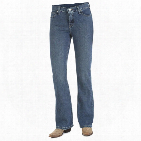 As Real As Wrangler Misses Classic Fit Boot Cut Jeans, Mg Wash