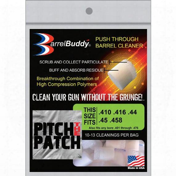 Barrelbuddy Polymer Gun Barrel Cleaners, .410/.416/.44/.45/.458, 10-13 Cleanings